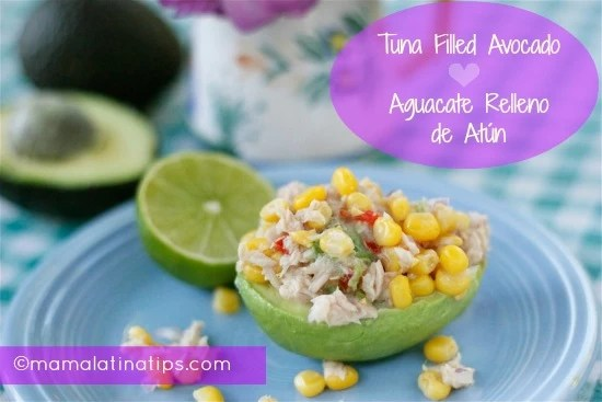 Tuna Filled Avocado Recipe