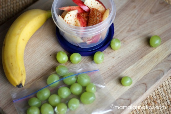 grapes, apple, banana - mamalatinatips.com