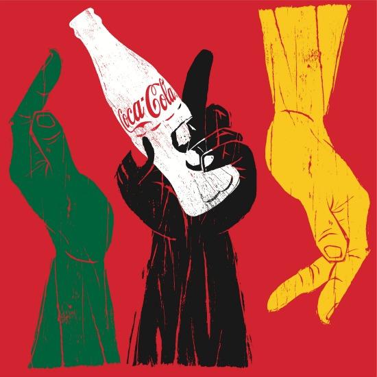hands Coca-cola