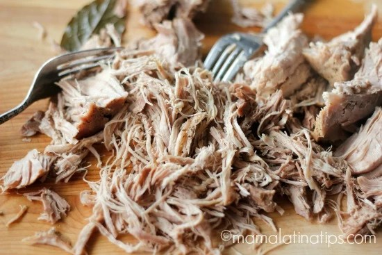 Carne de cerdo deshebrada