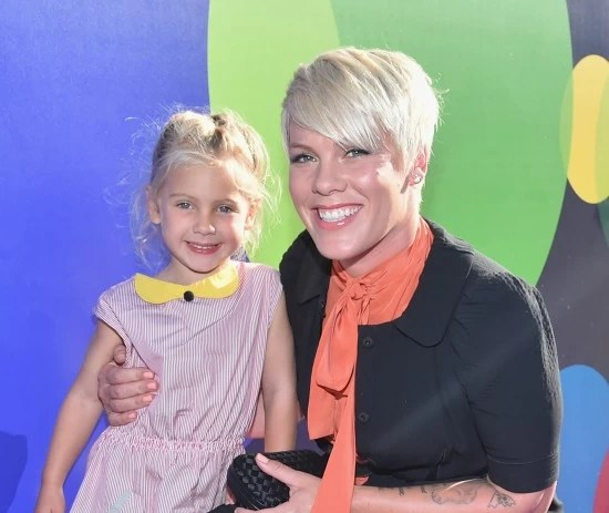 Pinkd and daughter at Inside Out Premier - mamalatinatips.com