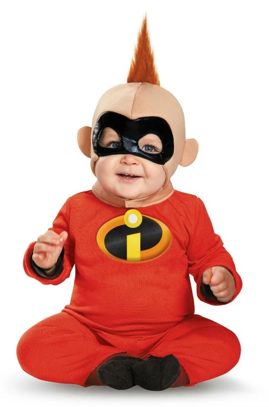 Disney Inspired Halloween costume for infants Jack Jack - mamalatinatips.com