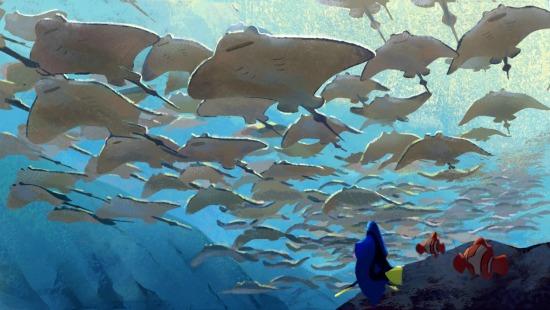 Ray scene at Finding Dory - mamalatinatips.com