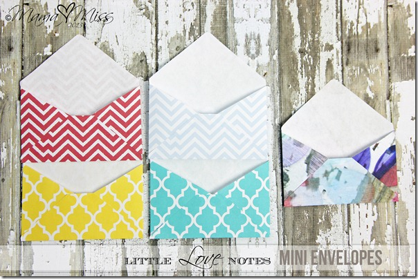 Little Love Notes Mini Envelopes - mama♥miss - Small Envelope Template