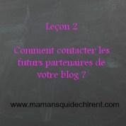 Comment contacter les futurs partenaires de son blog
