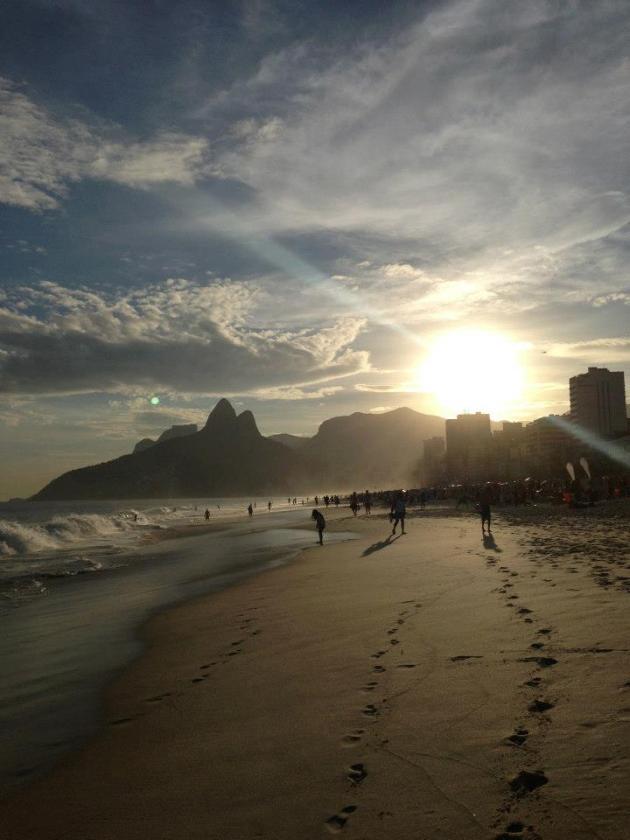 Coucher de soleil sur Ipanema