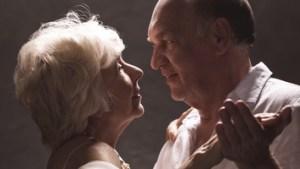 Intimate date- senior couple in love, dancing