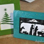 Ridiculously Easy Sparkle Christmas Silhouettes (Plus a FREE Printable!)