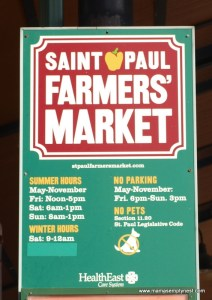 St. Paul Farmers' Market sign July 2012
