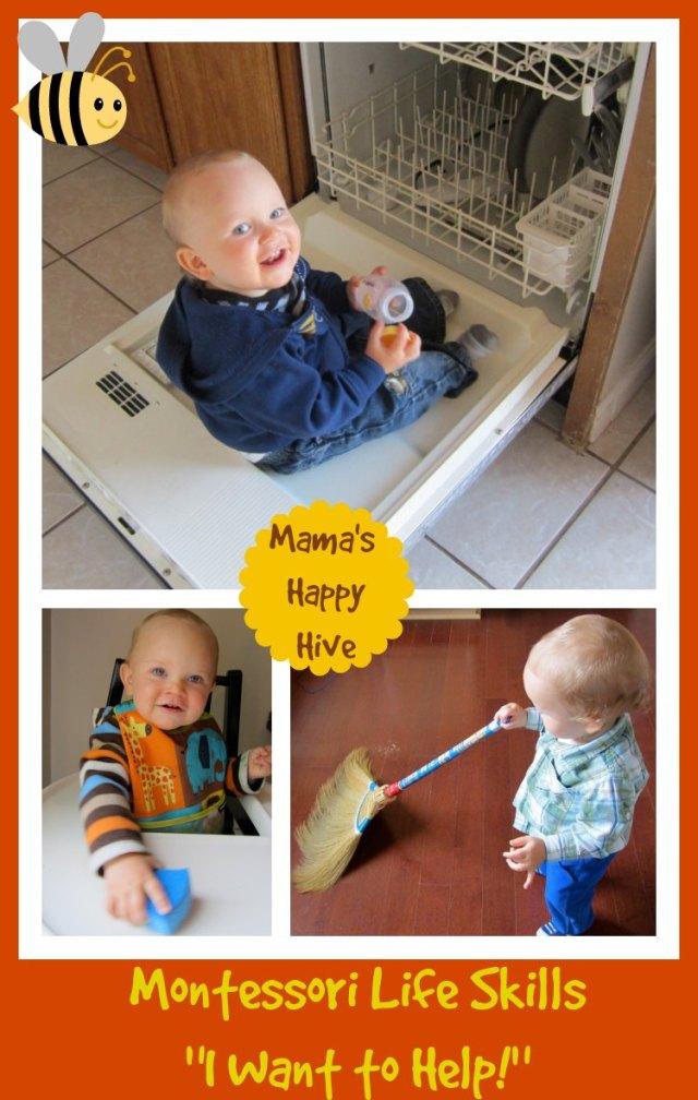 Teaching Toddlers Life Skills from Mamashappyhive.com