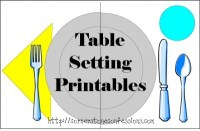 Weekly Printables Round-Up: Table Setting Printable, First ...
