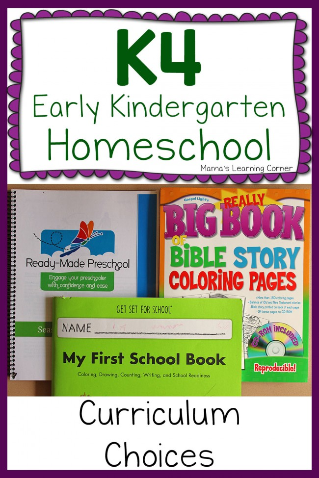 Early Kindergarten Homeschool Curriuclum Plans for 2015-2016 - Mamas