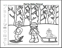 Find It! Winter Hidden Picture Worksheets - Mamas Learning ...