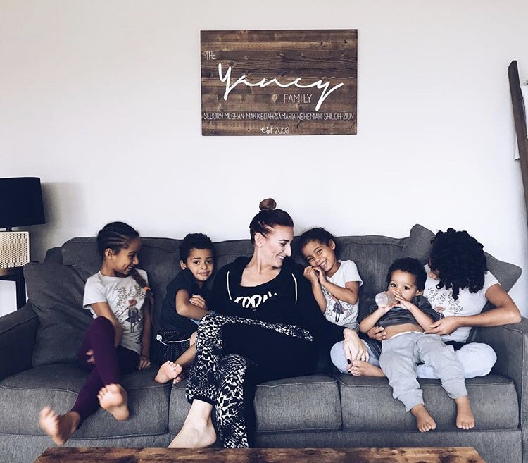 Two minutes with … Meghan Joy Yancy, mama to Makkedah, aged 8 years, Samaria, aged 7 years, Nehemiah, aged 5 years, Shiloh, aged 3 years, Zion, aged 2 years and #6 is due in April