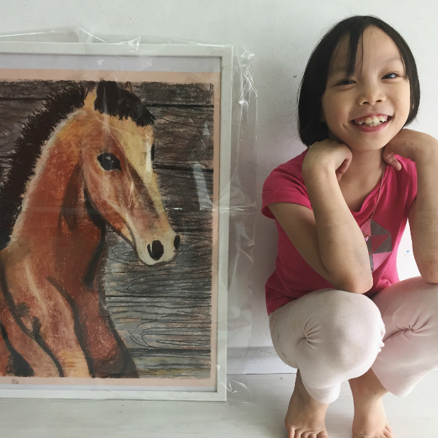 child's artwork of a horse