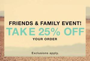 Shopbop Friends and Family Event ¡ahorra 25% en tu compra!