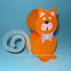 Lavoretti per bambini con cartoncino: gattino