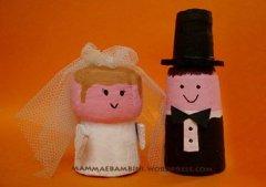 Lavoretti con il sughero: gli sposi