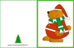 Biglietti auguri Natale: orso con sciarpa