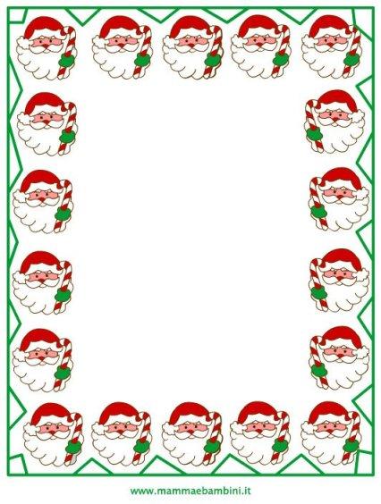 Cornicette per Natale da colorare in natale