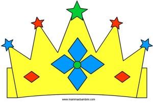 Corone: modello re e regina in lavoretti e addobbi feste per bambini