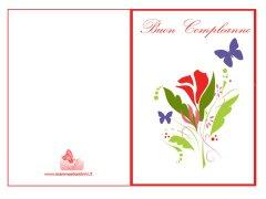 Biglietti auguri compleanno da stampare con fiori