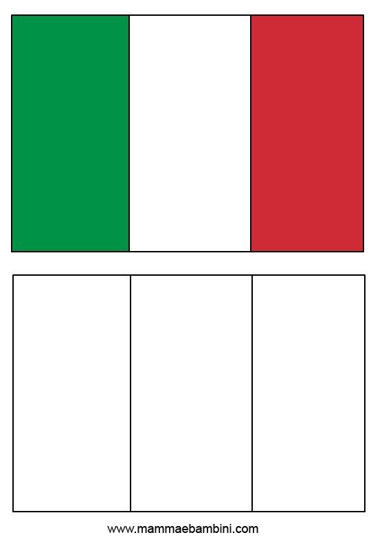 Le Bandiere Da Stampare E Colorare Italia E Brasile