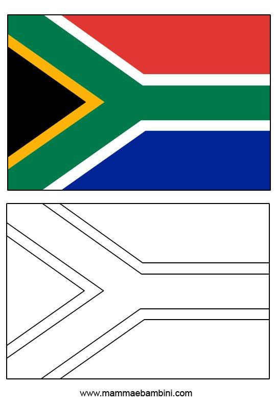 Le Bandiere Da Colorare E Stampare Sudafrica E