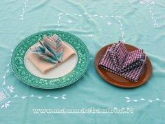 Piegare i tovaglioli: ali di farfalla