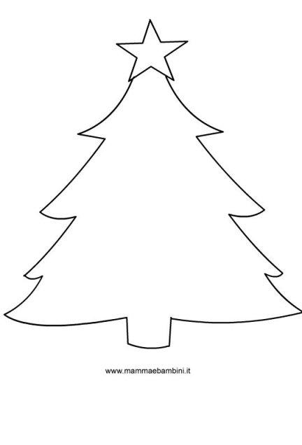 Sagome per Natale: albero di Natale in natale