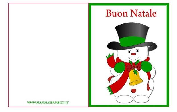 Biglietto auguri Natale da stampare n.10 in natale biglietti da stampare
