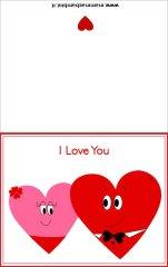 Biglietti da stampare San Valentino: due cuori