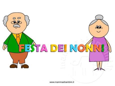 Cartello con scritta Festa dei Nonni in festa dei nonni