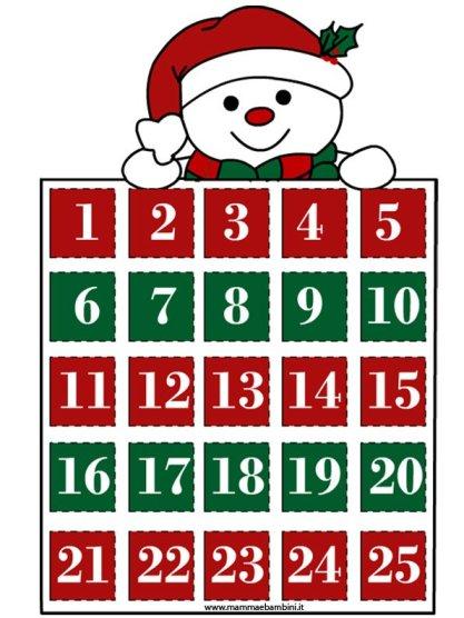 Calendario dellAvvento da stampare in natale