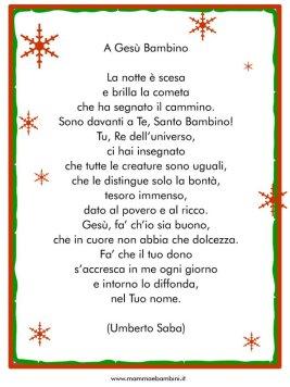 Tante poesie di Natale da stampare con cornice in poesie preghiere e testi natale