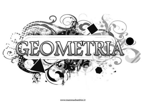 Copertina quaderno Geometria per ragazzi in scuola