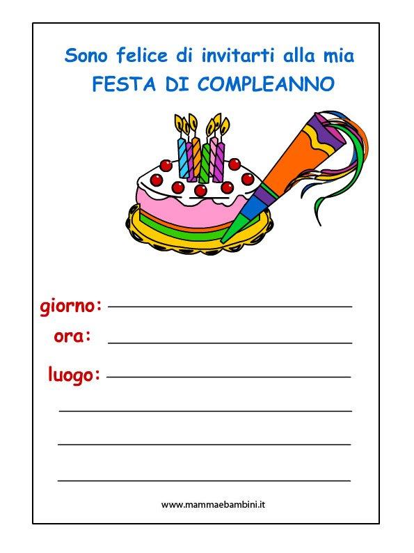 InvitoCompleanno bambini sulla torta inviti Pinterest Gelato - gift certificate template free download