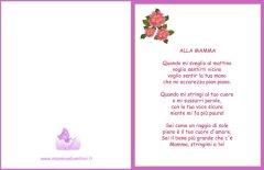 Biglietto con poesia per la mamma