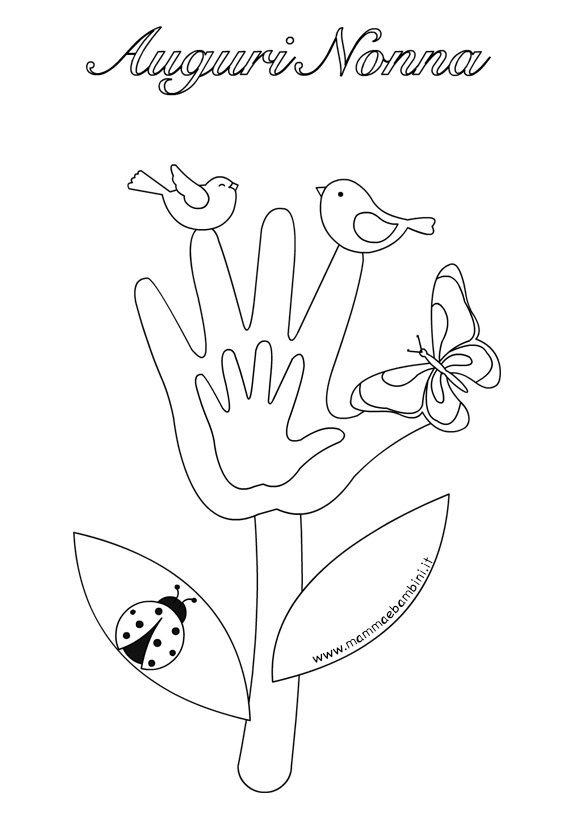 Disegno Fiore Da Colorare Per Festa Della Nonna Mamma E