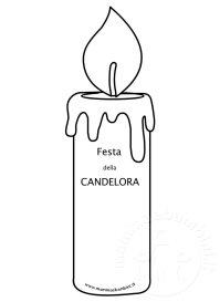Festa della Candelora disegno da stampare  Mamma e Bambini