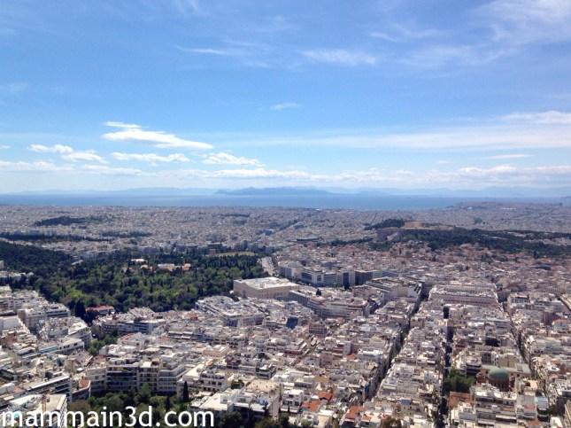 Panorama di Atene dal Monte Licabetto