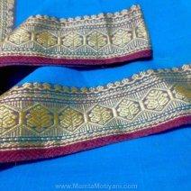 Bright Blue Saree Fabric