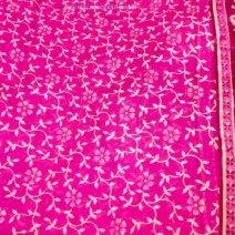 Bright Pink Sari Fabric