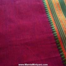 Burgundy Sari Fabric