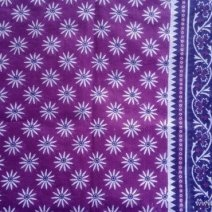 Daisy Print Sari Fabric