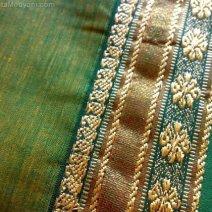Green Ilkal Saree Fabric