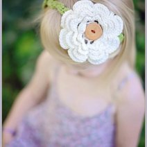 Irish Rose Crochet Headband Pattern