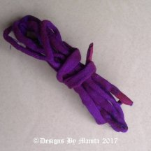 Neon Purple Silk Fabric Cord