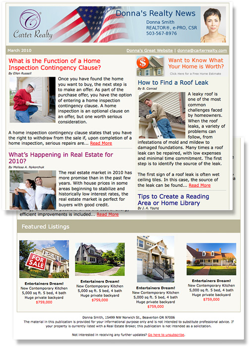Real Estate Email Newsletters and Listing Flyers ManageAgent