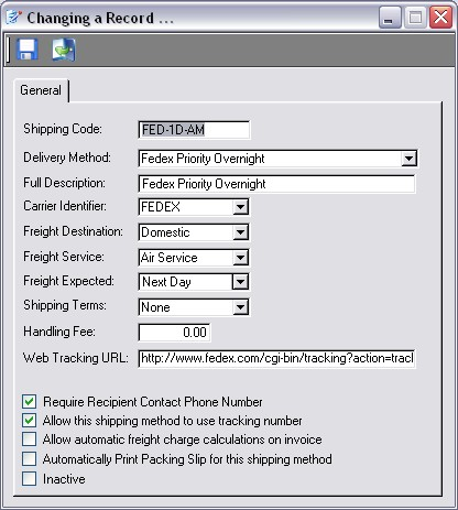 Shipping Methods - invoice shipping